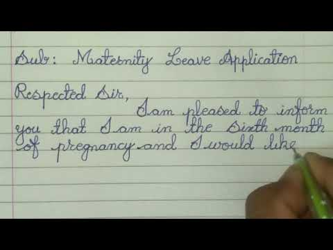 Write Maternity Leave Application In English // How To Write In Cursive