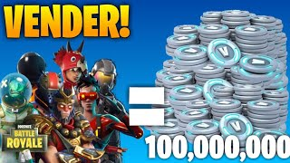 *HOW TO SELL* ALL OUR SKINS IN FORTNITE: Battle Royale