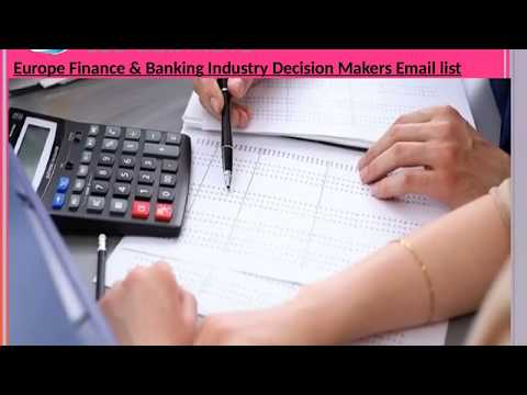 Europe Finance Banking Industry Decision Makers Em