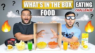 WHAT'S IN THE BOX FOOD EATING CHALLENGE   Spicy Noodles Eating Competition   Food Challenge