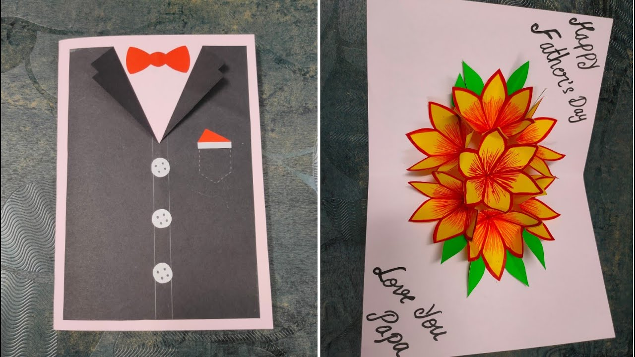 easy and beautiful card for father's day  father's day