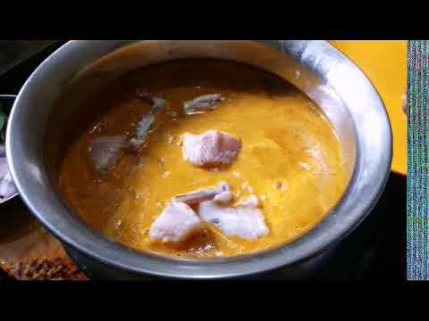 Naadan Shark fish curry with coconut...