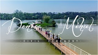 Baixar Denisa & Mihut - Civil Ceremony 4K 🎬 - Plaza Lake Rojiste  | FilmariCuDrona.com