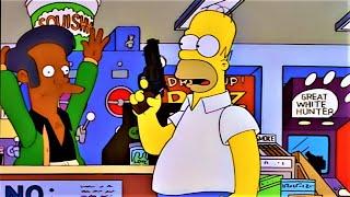 심슨 총을 사서 큌이마트를 털러간 호머