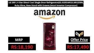 LG 190 L 4 Star Direct Cool Single Door Refrigerator(GL-D201ARGX.ARGZEBN, Ruby Glow)