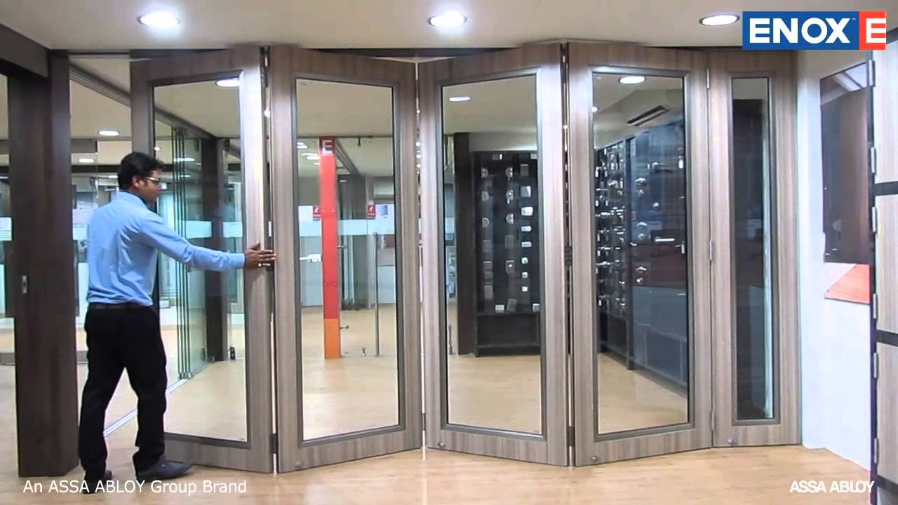 & ENOX Wooden Center Sliding Folding System EWSLDF 601 - YouTube