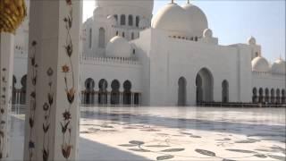 アブダビもモスクの中庭の動画です。 見渡し限りの白で素敵でした。