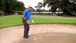 Stuart Appleby golf tips - Getting out of a sand trap