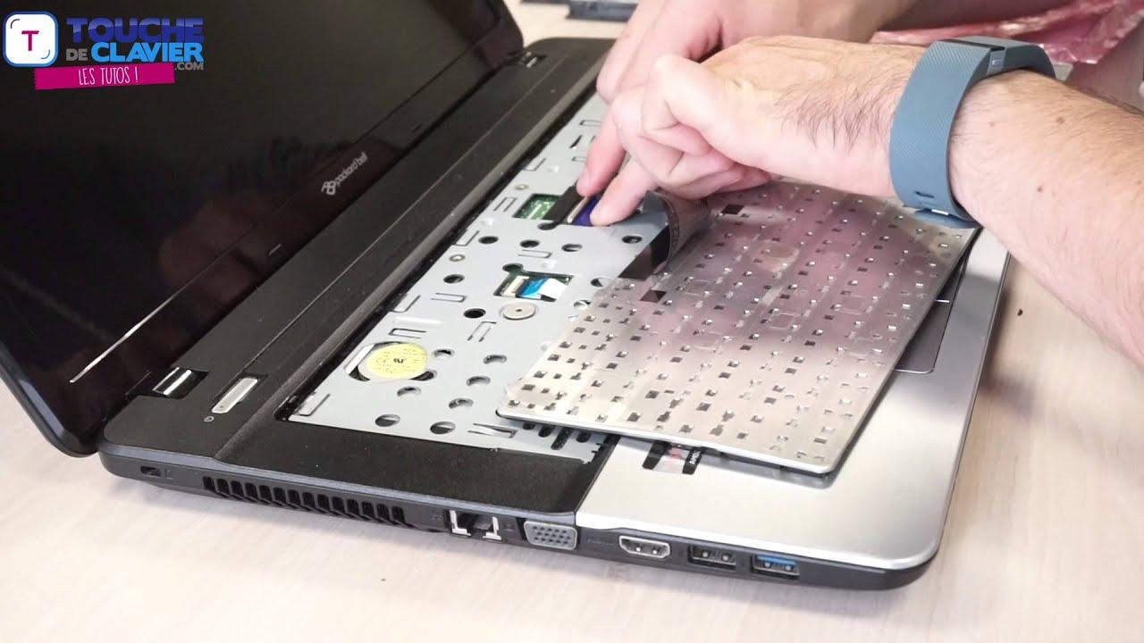 Tuto changer clavier pc portable packard bell le69kb te11bz te11hc te69cx te69hw youtube - Nettoyer clavier pc portable ...