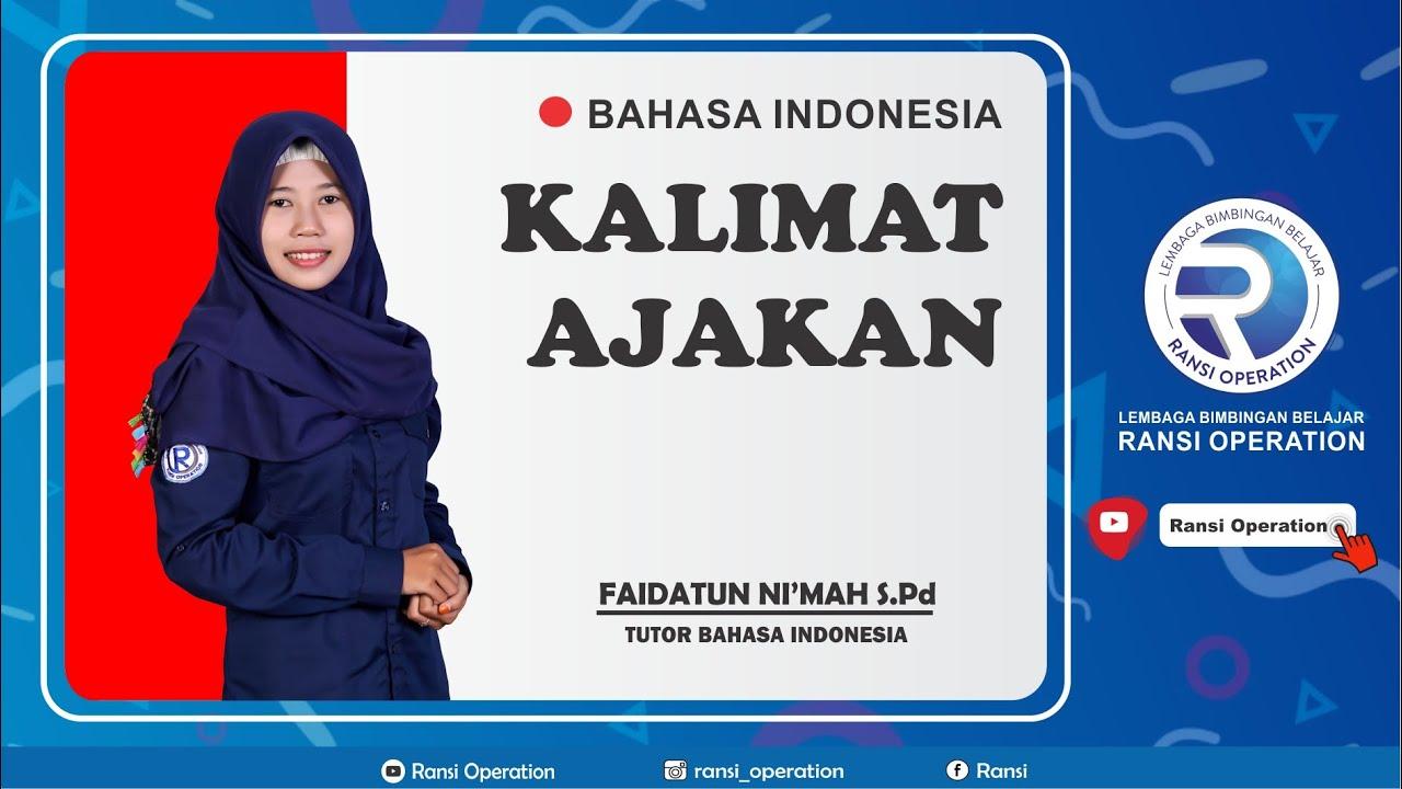 Kalimat Ajakan Mata Pelajaran Bahasa Indonesia Oleh Faidatun Nikmah   YouTube