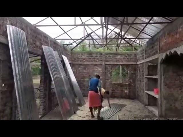 Moddo Kapna [south] Belaliyyah Jamia Masjid [Sunamgonj] Roof work