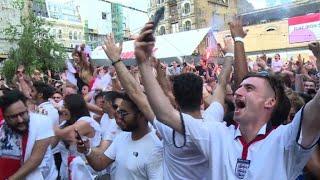 England fans rejoice as team beats Sweden 2-0
