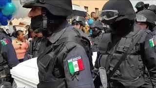 Último adiós a mujer policía en Dolores Hidalgo