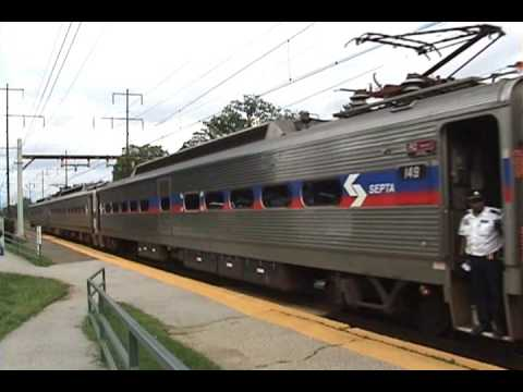 Amtrak & Septa trains on the NEC in Norwood,PA