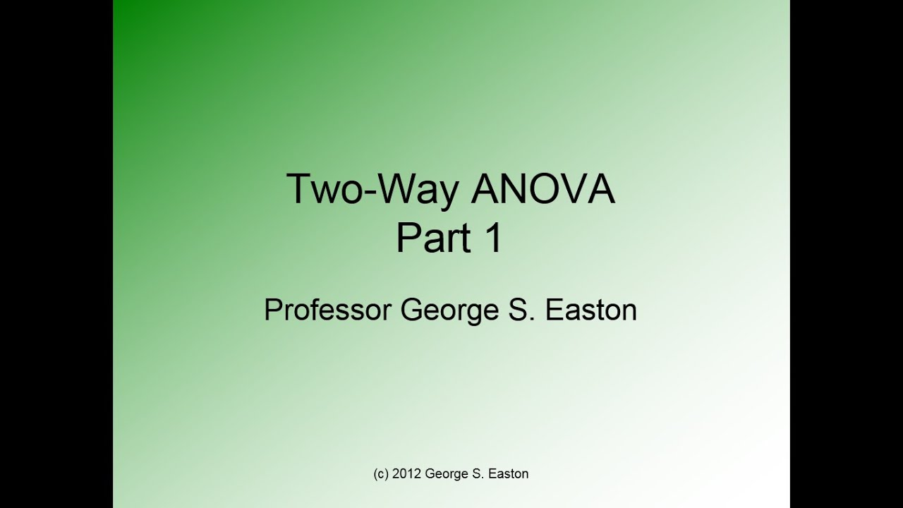 analyzing with a two way anova This function calculates anova for a two way randomized block experiment there are overall tests for differences between treatment means and between block means.