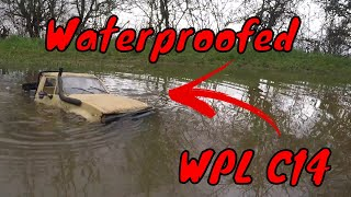 WPL C14 $30 RC Truck. Waterproofed & 2s Lipo Upgrade. Submerged