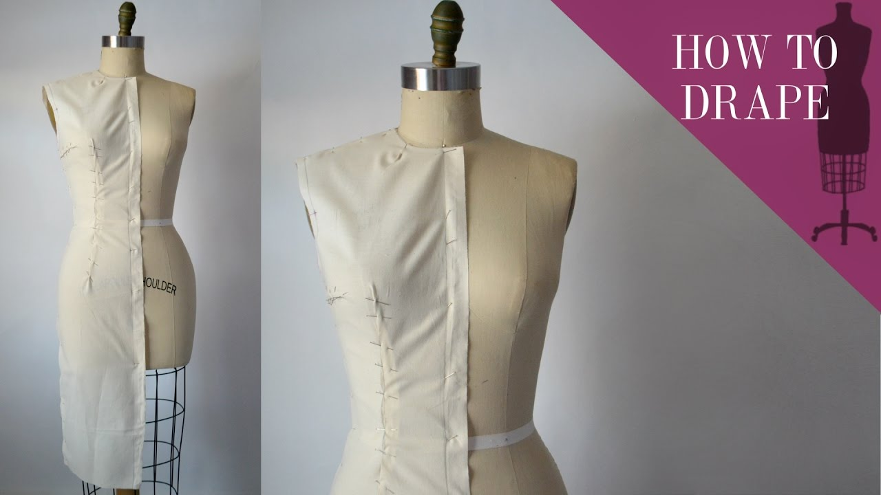 How To Drape A Sheath Dress Bodice  YouTube