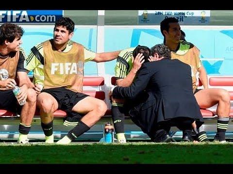 David Villa lloró desconsoladamente al salir del campo - Mundial Brasil 2014