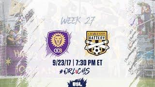 USL LIVE - Orlando City B vs Charleston Battery 9/23/17 thumbnail