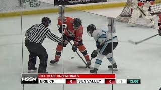 PIHL Penguins Cup Playoffs Class 3A Semifinals - Erie Cathedral Prep vs Seneca Valley