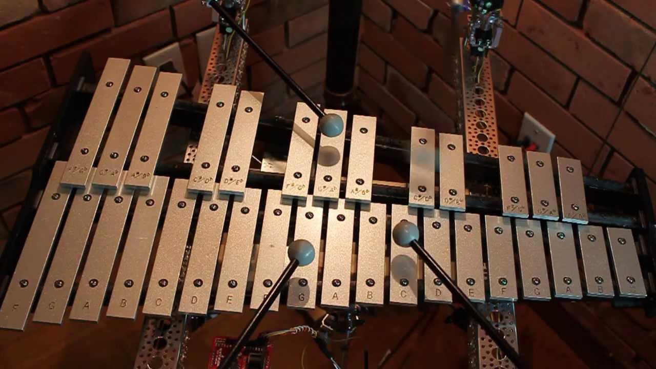 Robot Glockenspiel Performs Popcorn