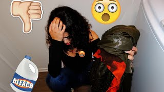 JUSTUS BLEACHED MY FAVORITE CLOTHES!!!!! **This is not a prank** | Justus & Kayla