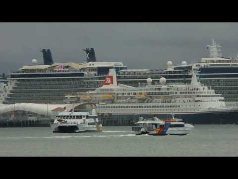 Two Cruise Ships Depart Auckland