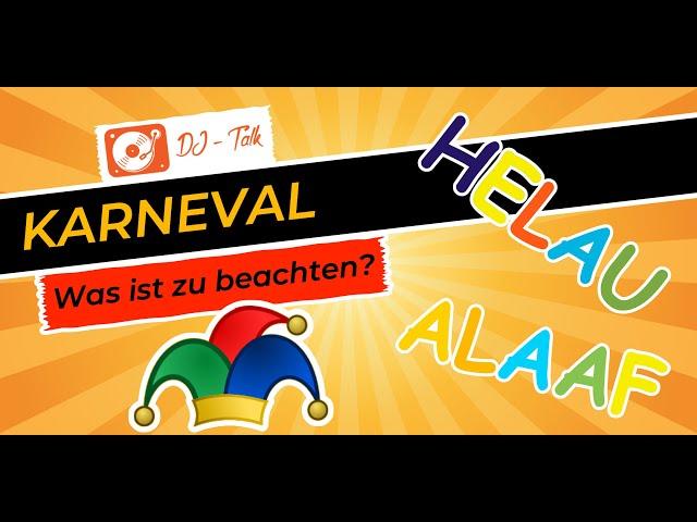 Fasching und Karneval als DJ | LIVE