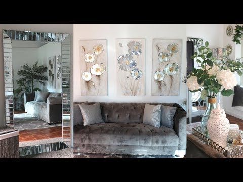 NEW! LIVING ROOM TOUR  APRIL 2019 ( 🌸SPRING CLEANING AND DECORATE WITH ME)🏡