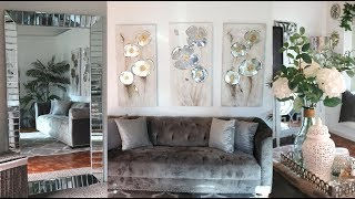 NEW! LIVING ROOM TOUR  APRIL 2019 ( 🌸SPRING CLEANING AND DECORATE WITH ME)�