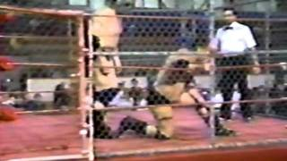 The Missing Link vs. Bullwhip Danny Johnson (1995 Cage Match)
