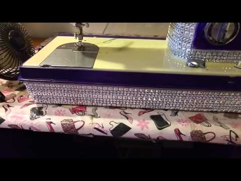 How I Blinged out my favorite Sewing Machine.