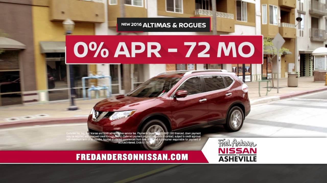 Fred Anderson Nissan Asheville >> Fred Anderson Nissan Of Asheville Zero In On Nissan