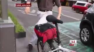 Ciclista es agredido por evidenciar invasión de carril en CdMx