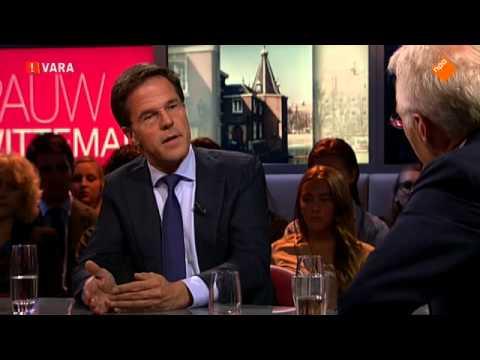 Premier Mark Rutte over de kabinetsplannen (Prinsjesdag) [Pauw & Witteman] 17-09-2013