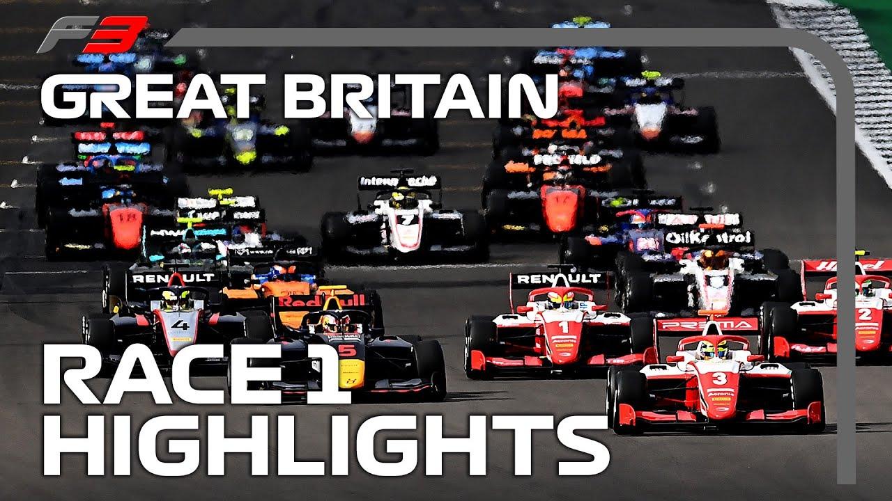 F3 Race 1 Highlights 2020 British Grand Prix Youtube