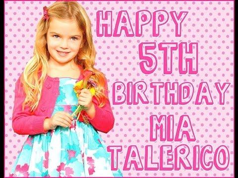 Happy 5th Birthday Mia Talerico ♥