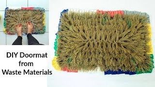 Make a Jute Door mat/ Floor mat from Old Clothes & a Rice Bag | No-Sew DIY Tutorial
