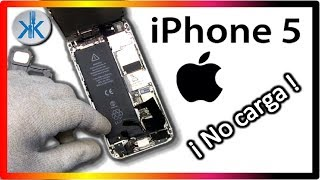 👍✔ iPhone 5 Cómo cambiar el conector de carga