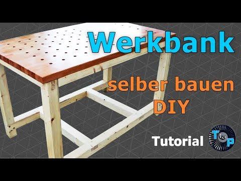Stabile Werkbank selber bauen DIY