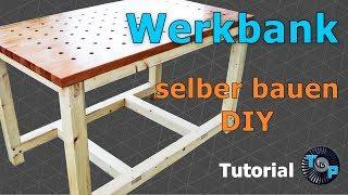 Stabile Werkbank selber bauen DIY #woodwork