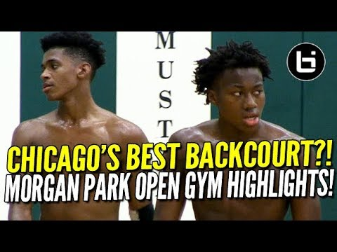 Ayo Dosunmu + Adam Miller: Midwest's Best Backcourt?! Morgan Park Open Gym Highlights!