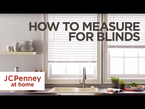 How to Measure For Blinds and Shades: Inside and Outside Mount | JCPenney