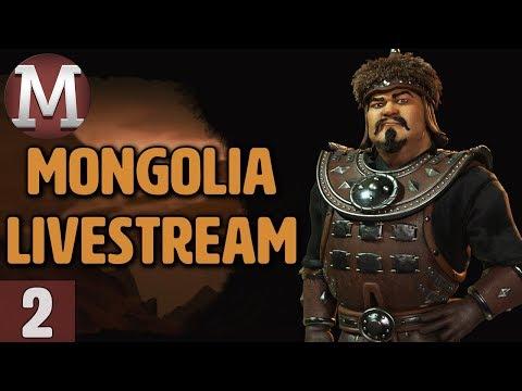 Civ 6: Rise & Fall - Mongolia Livestream Gameplay - Part 2