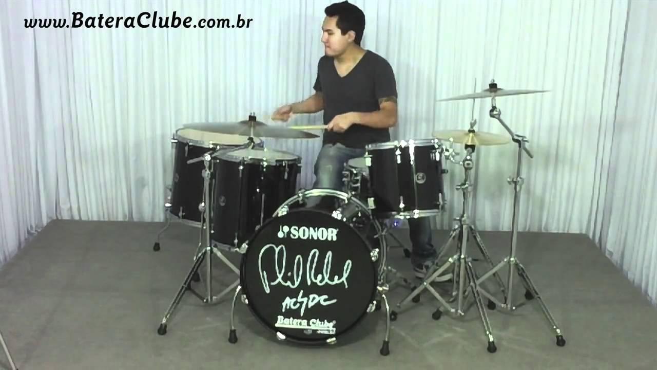Sonor Phil Rudd Signature Drumset Soundcheck Bateraclube