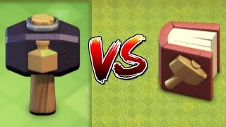 MAGIC HAMMERS VS MAGIC BOOKS IN CLASH OF CLANS