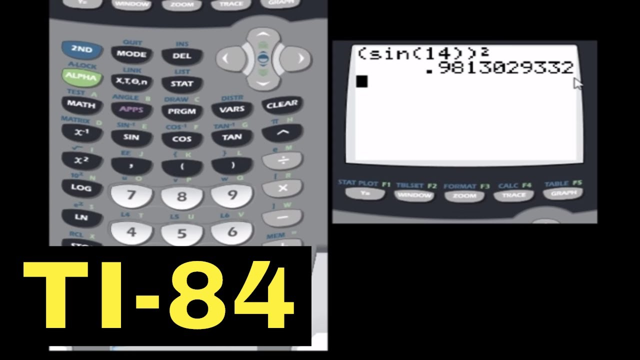 TI-84 Calculator - 05 - Finding the Sin, Cos, and Tan of an Angle ...