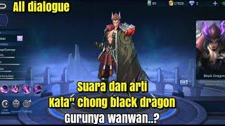 """siapanya wanwan ? Suara dan arti kata"""" chong naga hitam  mobile legends"""