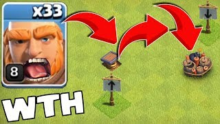 """THEY ALL DIED in 5 SECONDS!! """"Clash Of Clans"""" TRAP TROLLED!!"""