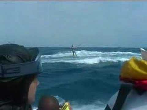 Kirsty Jones long distance world record kite surfing